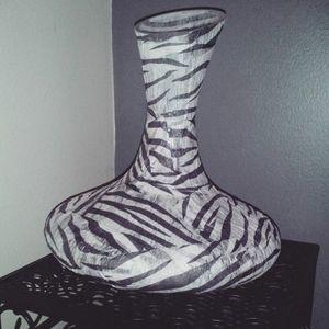 Handcrafted Decanter Zebra Vase, Vases, Accents